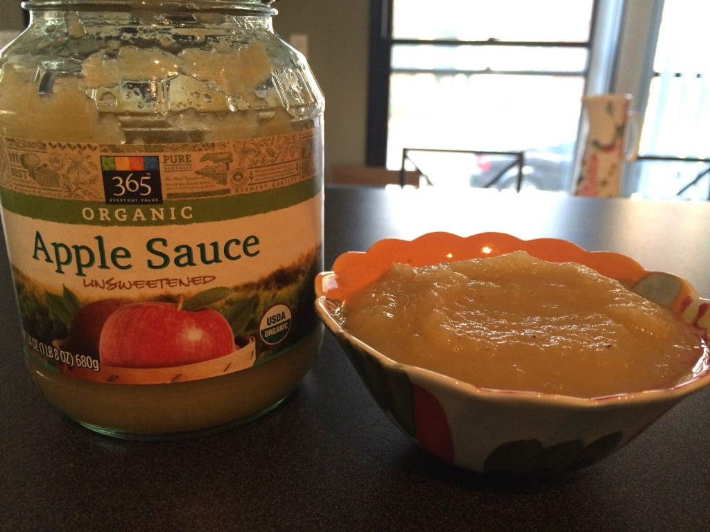 1/2 cup unsweetened applesauce